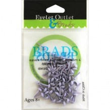 Eyelet Outlet - PURPLE Round Brads 4 mm - kovové svorky