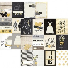 Simple Stories - THE STORY OF US 3x4 Journaling Cards - čtvrtka