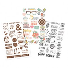 Simple Stories - THE RESET GIRL Clear Stickers - samolepky