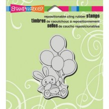 Stampendous - CLING BALLOON BUNNY - cling razítko