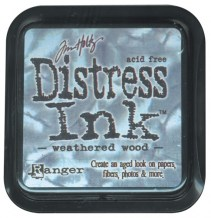 Distress Ink Pad - WEATHERED WOOD - scrapbook