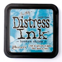 Distress Ink Pad - BROKEN CHINA - scrapbook