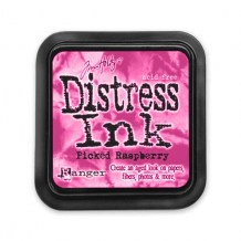 Distress Ink Pad - PICKED RASPBERRY - scrapbook