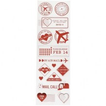 Martha Stewart - LOVE NOTES Foil Stickers - samolepky