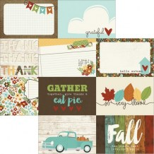 Simple Stories - PUMPKIN SPICE 4x6 Journaling Cards - čtvrtka