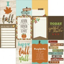 Simple Stories - PUMPKIN SPICE 4x6 Vertical Journaling Cards