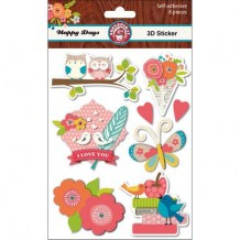 Ruby Rock-it - HAPPY DAYS Layered Stickers - 3D samolepky