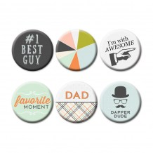 Fancy Pants - GOOD FELLOWS Flair Buttons - kovové placky