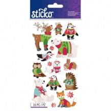 Sticko - HOLIDAY SWEATER ANIMALS Stickers - samolepky