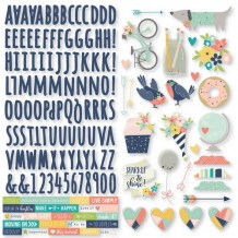 Simple Stories - POSH Combo Stickers - samolepky