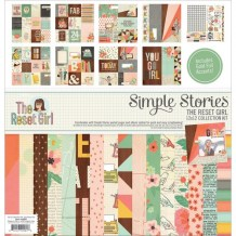 Simple Stories - THE RESET GIRL 12x12 Collection Kit - komplestní sada