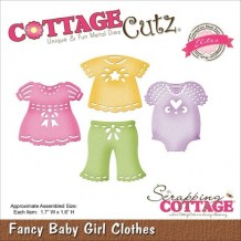 Cottage Cutz - FANCY BABY GIRLS CLOTHES - vyřezávací šablona