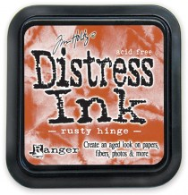Distress Ink Pad - RUSTY HINGE - scrapbook