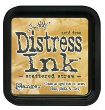 Distress Ink Pad - SCATTERED STRAW - scrapbook