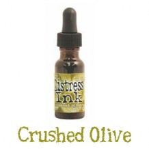 Distress Reinker - CRUSHED OLIVE - scrapbook