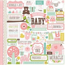 Echo Park - BUNDLE OF JOY GIRL Element Stickers - samolepky