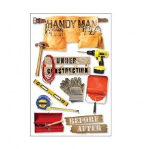 Paper House - HANDY MAN Layered Stickers - 3D samolepky