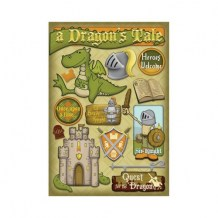 Karen Foster - DRAGON´S TALE Stickers - samolepky