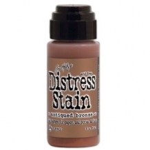 Ranger - Distress Stain Metallic ANTIQUED BRONZE - scrapbook