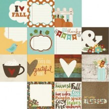 Simple Stories - PUMPKIN SPICE 4x4 Journaling Cards - čtvrtka