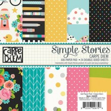 Simple Stories - CARPE DIEM 6x6 - scrapbookové čtvrtky