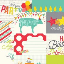 Simple Stories - LET´S PARTY 4x6 Journaling Cards - sc. čtvrtka