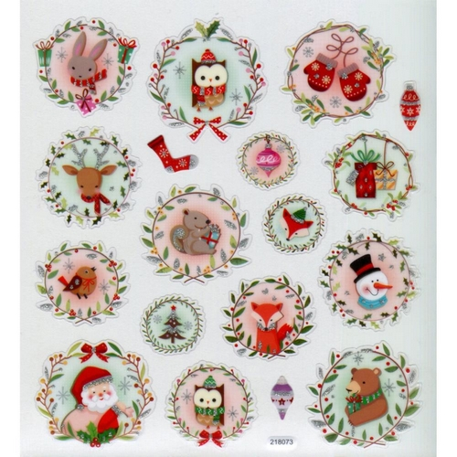 Tattoo King - CHRISTMAS ANIMALS Stickers - samolepky